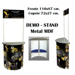Demo Stand de Metal-MDF Semi-Circular